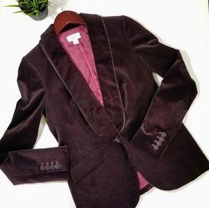 ON HOLD FOR ZOE LOFT Velvet Like Blazer Tuxedo